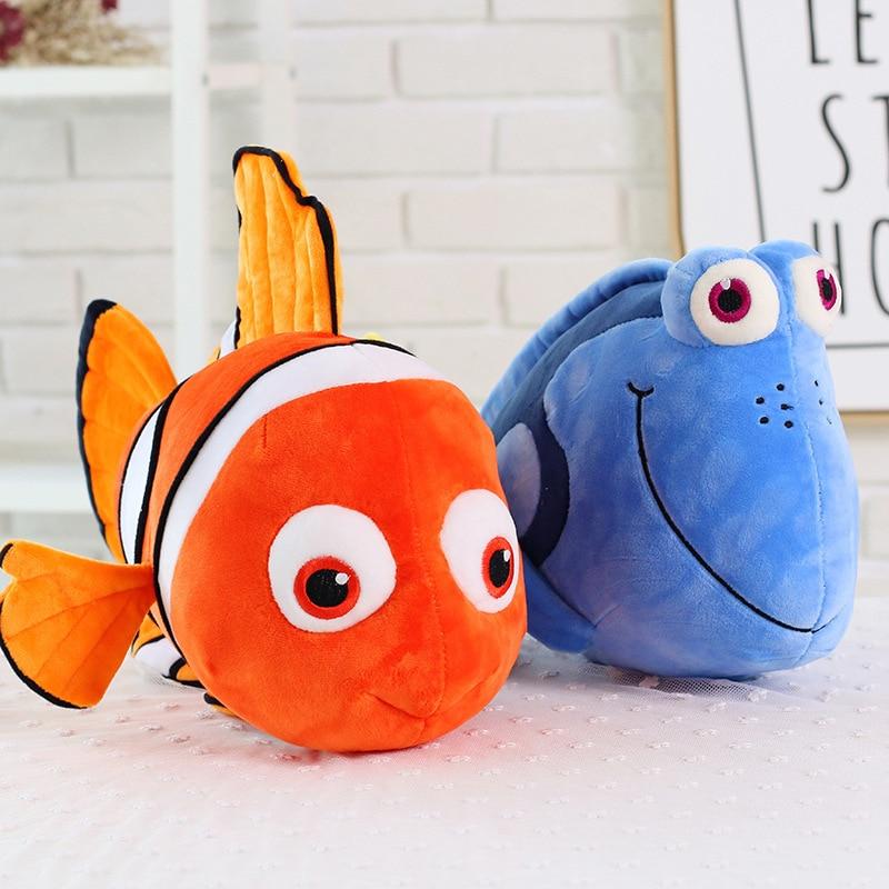 23cm Simulation Finding Nemo Dory Plush Toys Stuffed Animal Dory Movie Cute Clown Fish Soft Doll Kid Lovely Christmas Gift Anime