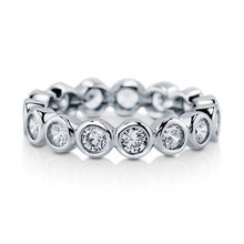 Stack Silver Ring Eternity-Band 925-Sterling-Silver Size Women 6 8 7 Bezel-Setting Circle