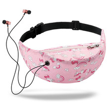 3D Color Printing Waist Bags for Women Hip Belt Money Mountaineering Mobile Phone Packs Bag