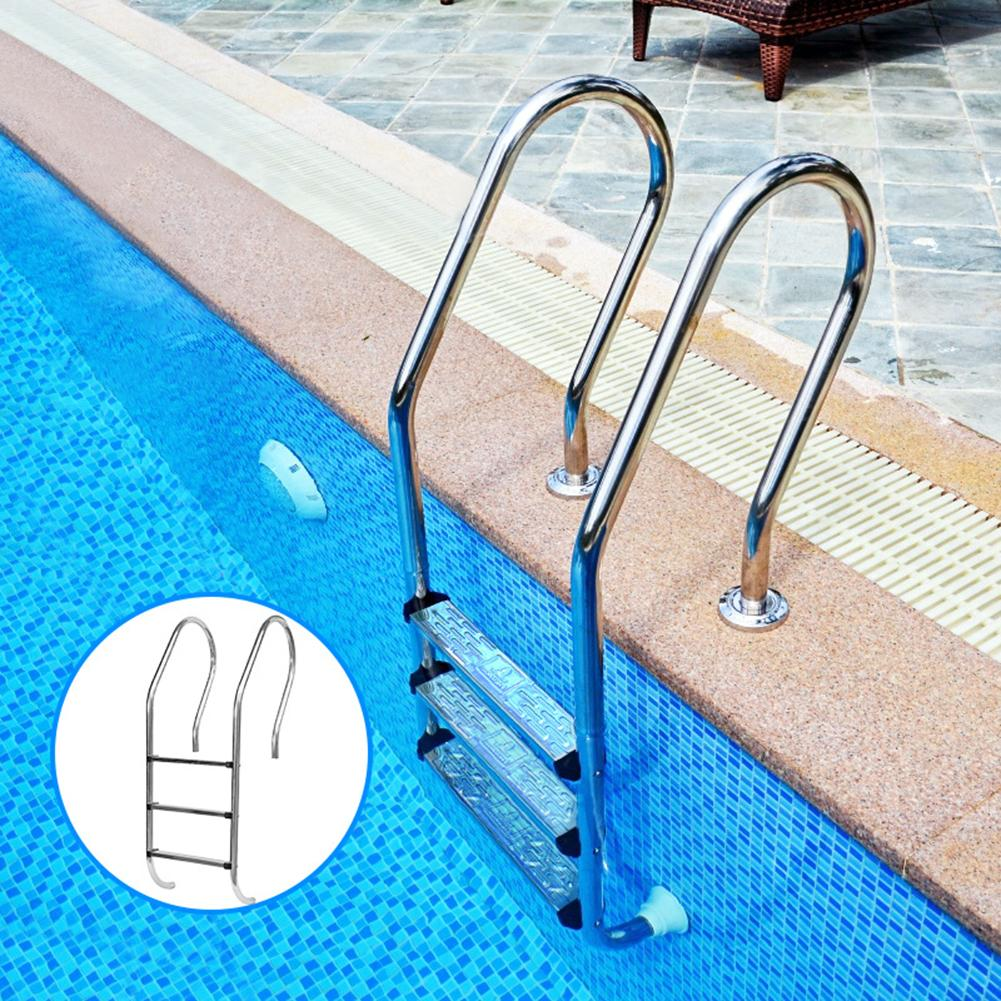 50x7.5x2.5cm Safety Swimming Pool Ladder Rung Steps Stainless Steel Replacement Anti Slip Ladder Swimming Pool Accessary