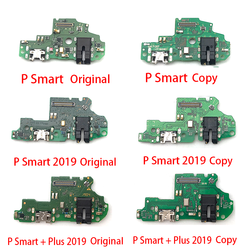 Dock Connector Micro USB Charger Charging Port Flex Cable Microphone Board For Huawei P Smart Plus 2019