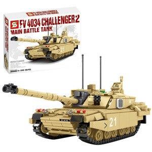 904Pcs Military Bricks Model Main Battle Tank Building Blocks DIY Bricks Toy Educational Toy Block Model Kit - Desert Camouflage