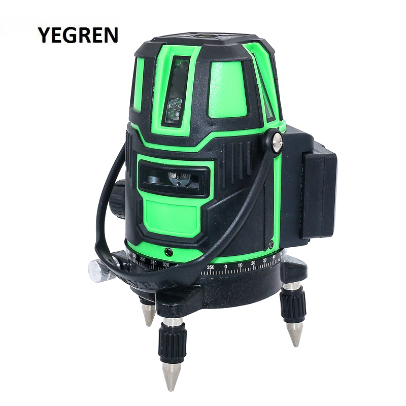 Self-leveling Laser Level  2/3/5 Lines Cross Line Level Outdoor Vertical Level Measurement Green Laser Line Straight Line