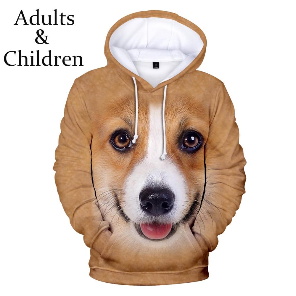 Casual Print Animal Dog 3D Hoodies Men Women Sweatshirts Harajuku Kids Hoodie Autumn 3D Animal Dog New Hot Boys Girls Pullovers