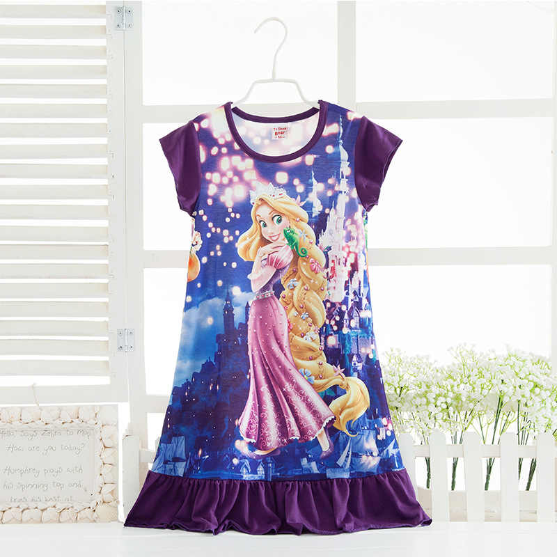 Princess Nightgowns for Girls Kids Nighties Sleepwear Toddler Pajamas Nightdress