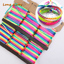 Approx 10m/lot 2.5mm Rainbow Gradient Cord DIY Bracelet Necklace Waxed Thread Jewelry Rope Chinese Knot Line(China)