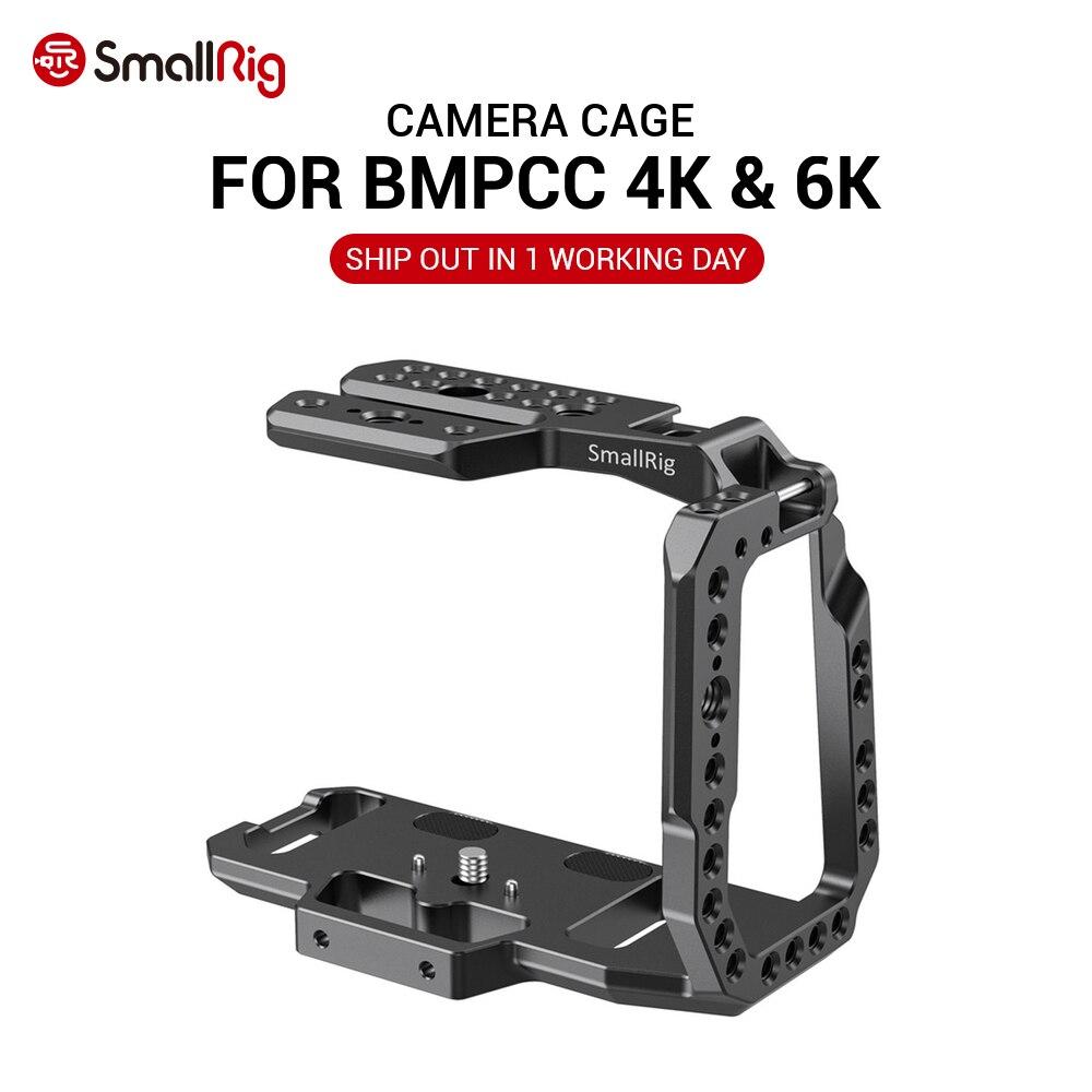 SmallRig BMPCC 4K / BMPCC 6K Camera Cage Half Cage For Blackmagic Design Pocket Cinema Camera 4K / 6K Feature W/ Nato Rail 2254