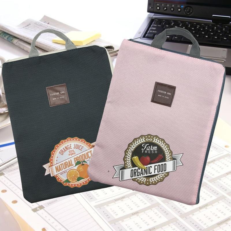 Coloffice A4 File Bag Zipper Multi-Function Multi-Layer Exam Paper Laptop Bag Briefcase Oxford Canvas File Pocket School Office
