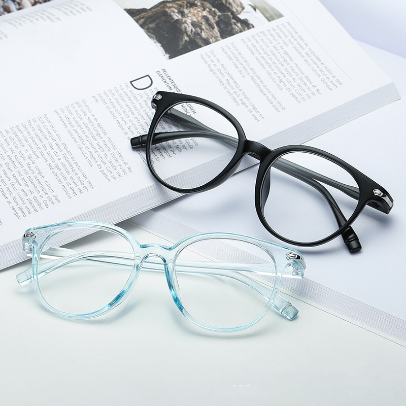 1Pcs Fashion Unisex Portable Optical Glasses Ultra Light Resin Blue Light Blocking Glasses Flexible Care Computer Glasses