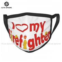 Firefighter Face Mouth Mask Unisex Washable Funny Cloth Luxury Facial Mask