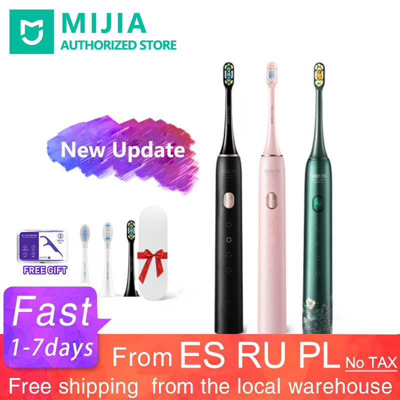 Xiaomi Soocas Electric Toothbrush X3U Upgraded Sonic Toothbrush X3 Teeth Whitening Wireless Smart Remote Control For Oral Care image