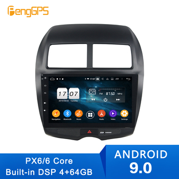 2 Din android 9.0 4+64G Car gps multimedia DVD player For Mitsubishi ASX Sport 2010+ Navigation with wifi bluetooth radio