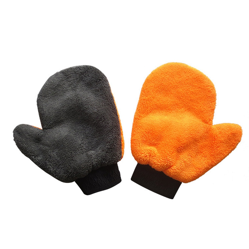 1Pc Coral Fleece Velvet Plush Short Wool Mitt Wash Car Mitten Washing Brush Cleaning Glove Tools Cloth