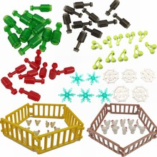 Legoing Parts Spider Web Snowflake Chicken Fence Banana Magic Broom Digital Blocks Children DIY Toy Parts MOC Set Legoings 10PCS(China)
