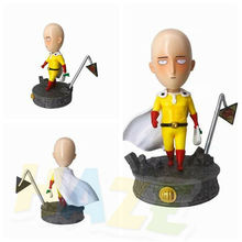 ONE PUNCH-MAN Hero Saitama Q Ver. Action Figure Toy Model Collection Anime Figure Toy Doll In Box 18cm iron man mk magnetic floating ver with led light iron man action figure collection toy retail box