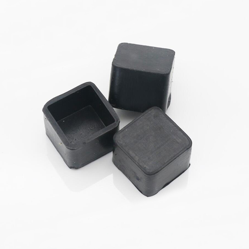 16pcs Black Plastic Rubber End Caps Square Leg Feet Pipe Tube Cap Insert Plugs Bungs For Furniture Table Chair Floor Protector