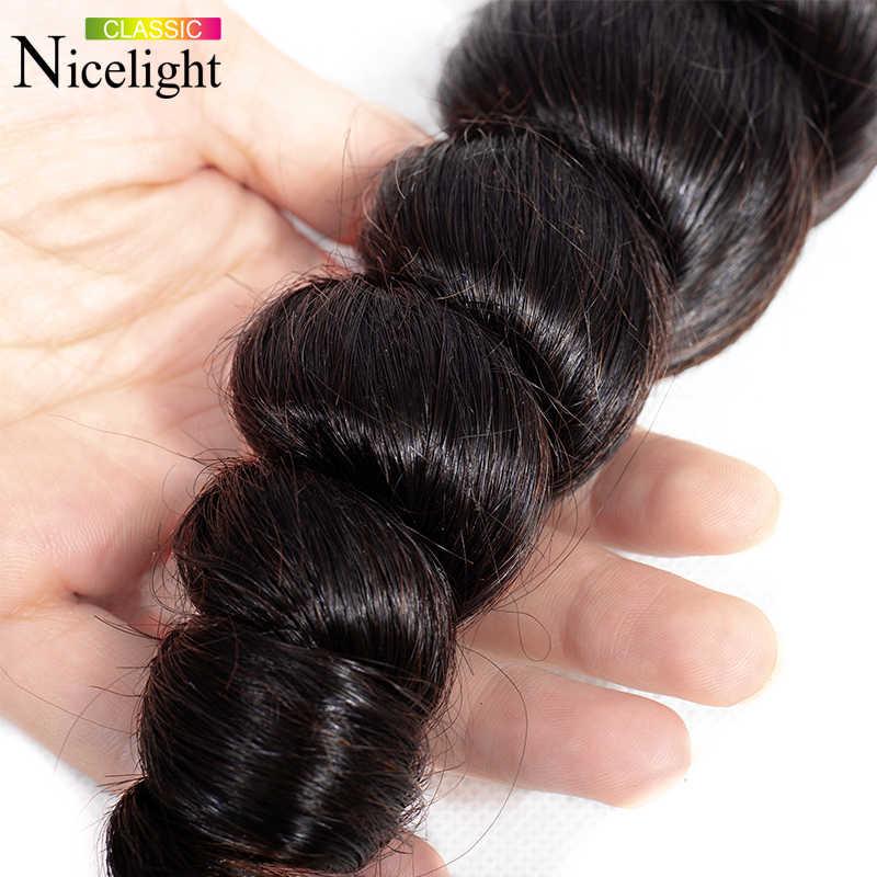 Mechones brasileños con mechones de luz Frontal de encaje 13X4 extensión Frontal de cabello humano onda suelta con mechones Frontal