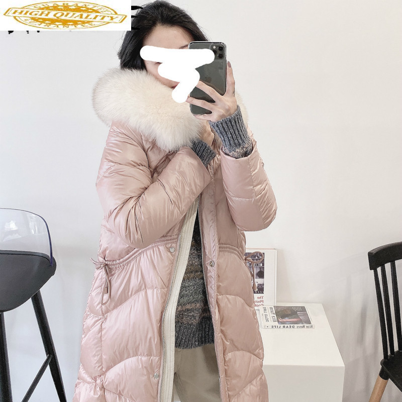 90% White Duck Down Jacket Women Clothes 2019 Winter Coat Women Fox Fur Collar Korean Puffer Jacket Women Parka QY9769 YY2129
