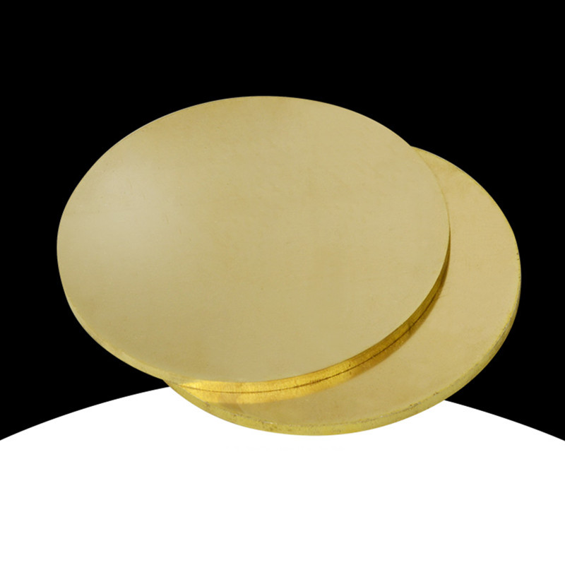 H62 Brass Plate Round Plate Thin Copper Wafer Gasket Laser Cutting Engraving Processing Custom