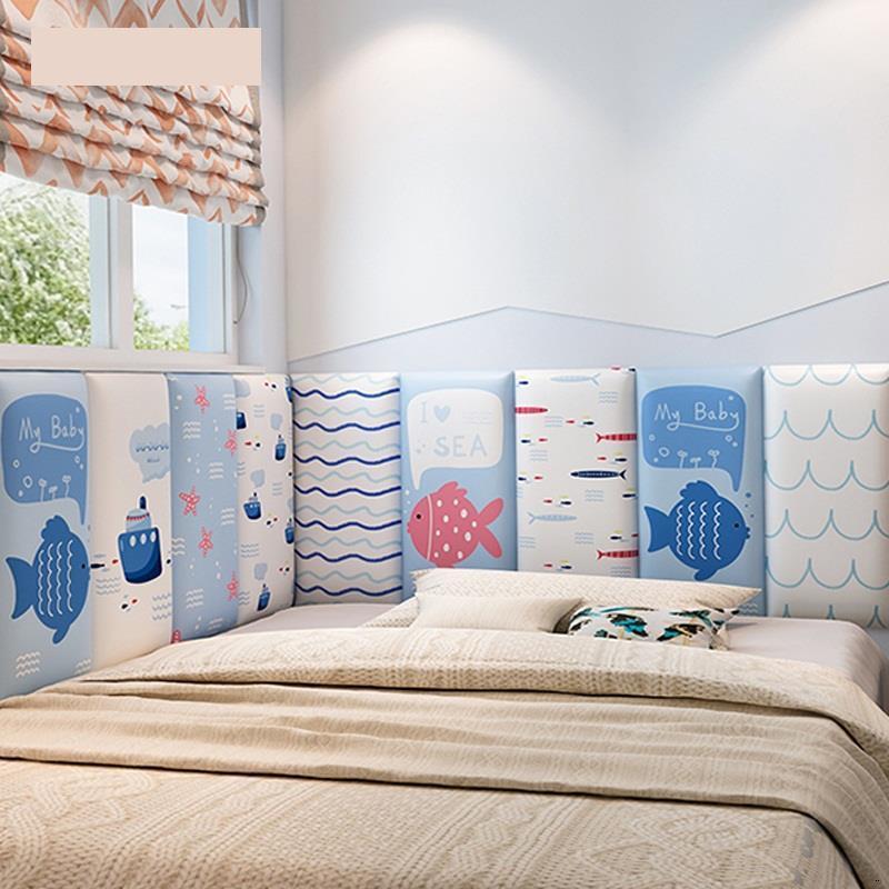 Testata Child Testiera Letto Cabecera Coussin Children 3D Wall Sticker Cabeceira Cabecero Cama Bed Tete De Lit Head Board