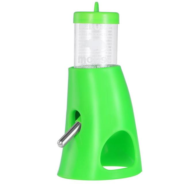 2 In 1 Hamster House Small Animal Hideout Pet Hideout Drinking Water Bottle With Plastic Base Hut Living Habitat For Hamster 2