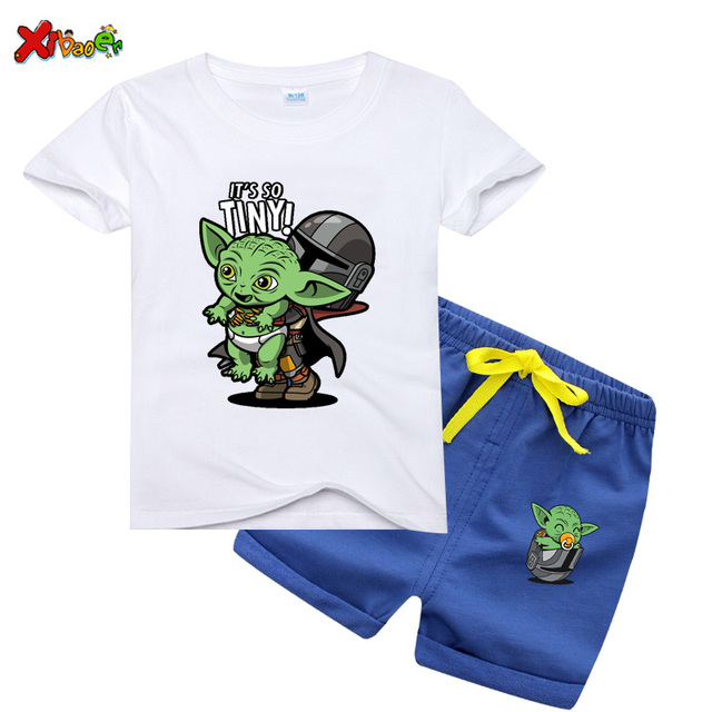 Cute The Mandalorian Baby Yoda Cartoon Kids T Shirt Boys Girls Kawaii Star Wars Children T Shirt Fashion Movie Tshirt Cloth Kids Clothing Sets Aliexpress