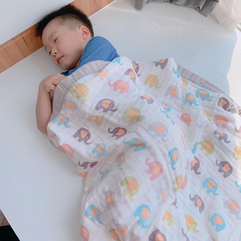 algodão bebê dormir cobertor swaddle respirável infantil