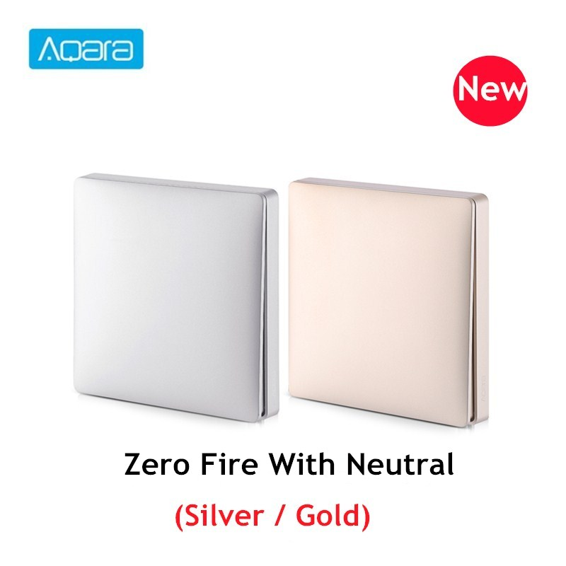 Aqara Wall Switch Panel Intelligent Linkage Light Control Home Switch Panel Zero Fire Wire Work With Mijia Mi Home APP