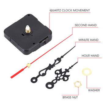 1 Set Wall Clock Mechanism Silent Large Wall Clock Quartz Clock Movement Mechanism DIY Repair Parts Watch Wall Clock Movement