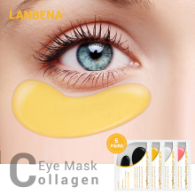 Lanbena Collagen Eye Mask Moisturizing Anti Aging Eye Patch Dark Circle Spot Removal Eye Bag Wrinkles Remover Skin Care 5 Pairs