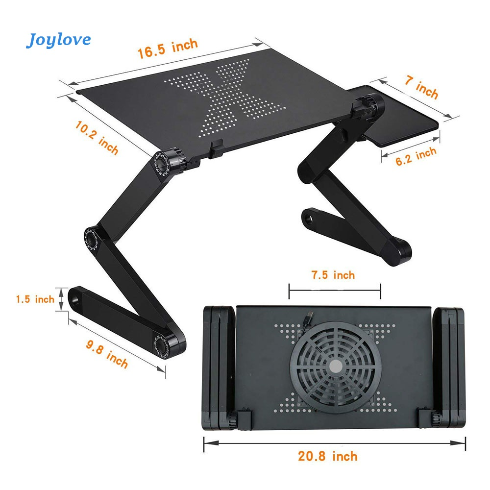 JOYLOVE Adjustable Laptop Laptop Table Stand With Adjustable Folding Ergonomic Design Stand Notebook Desk Dresser