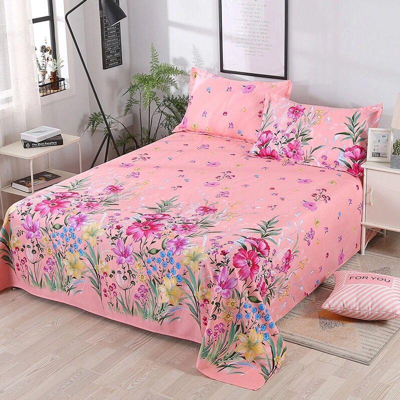 Купить 2020 new minimalist style bed sheets dormitory twill leaf print