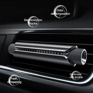 Image 3 - Licheers Luxe Auto Air Vent Parfum Aluminium Ontwerp Auto Luchtverfrisser Parfums Met 4 Effen Essentiële Olie Auto Houder