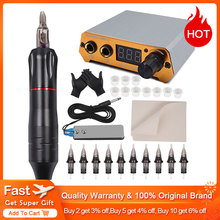 цена на Professional Tattoo Rotary Pen Tattoo Kit 10pcs Cartridges Machine Mini Power Set Tattoo Studio Supplies