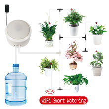 New WIFI Control Automatic Watering Device Plant Drip Irrigation System Garden Pots Auto Fill Light Machine Water Pump Timed