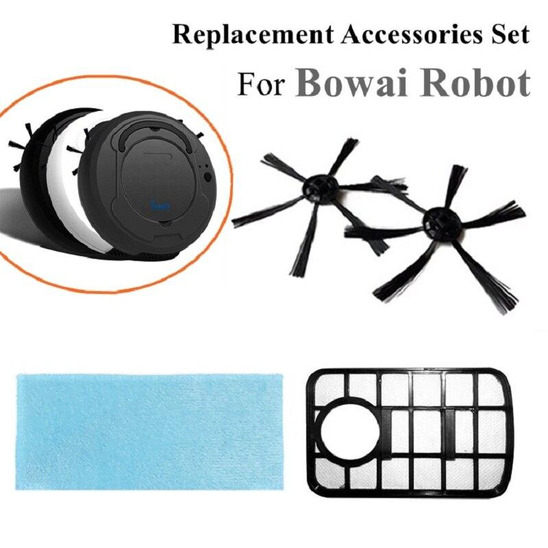 Ersatz Roboter Staubsauger Teile Geeignet für Bowai Roboter Filter Staub Box, Pinsel, Mopp Extra Zubehör Set