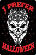 Жестяной знак «я предпочитаю Хэллоуин» черный домашний декор