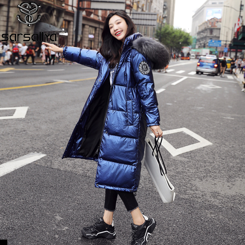 Winter Down Coat Women Real Fur Long Jackets Female Warm Thick Parkas Ladies With Hood Fashion Luxury Woman Clothes 2019 New