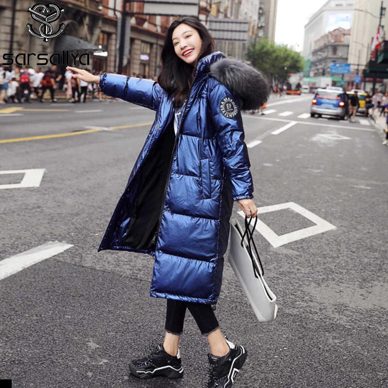 Winter Unten Mantel Frauen Echtpelz Langen Jacken Weibliche Warme Dicke Parkas Damen Mit Kapuze Mode Luxus Frau Kleidung 2019 neue