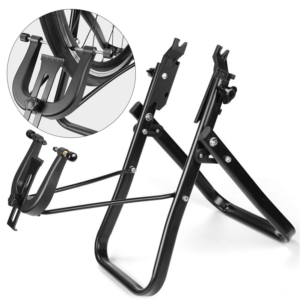 Vtt vélo de route roue de bicyclette support de Truing entretien maison mécanicien Truing outil pliable roue Correction Table