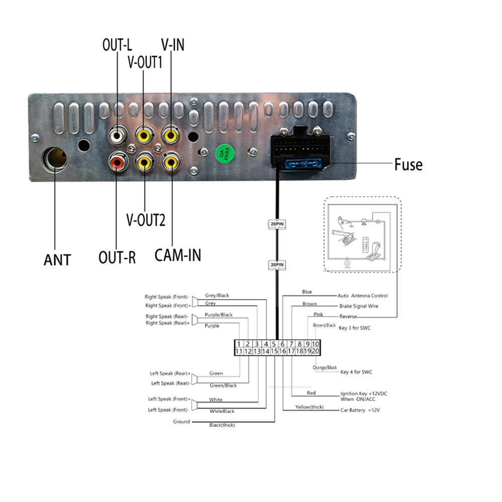 Hikity Podofo 1din Autoradio MP5 Lettore Multimediale di Navigazione GPS Car Audio Stereo Bluetooth 7 HD Retrattile Autoradio Della Macchina Fotografica - 4