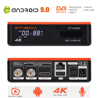 4:2:2 4K/8K Android DVB TV BOX GTMEDIA GT Combo DVB-S2X + DVB-T2 ,BT 4.0, google sprach Remote Internet box,CCam,M3U Decoder-Tuner