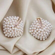 2020 корейские модные ювелирные изделия с кристаллами и жемчугом