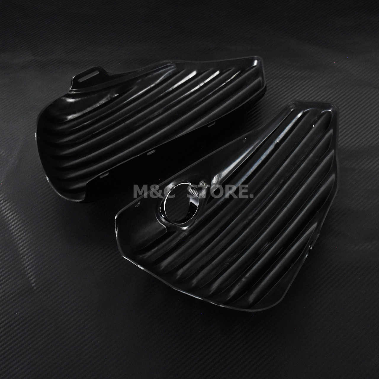 Motorfiets Zwart Links Rechts Kuip Batterij Cover Gas Tank Guard Kuip Streep Voor harley Sportster 883 1200 XL 48 72 Iron Nightster Custom Low Roadster 2004-2013