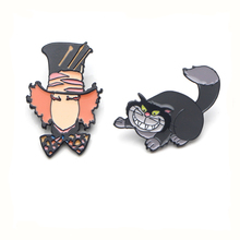 Cartoon character and cat Zinc Alloy Pins for men women para Shirt insignia Clothes backpack Accessory medal Badges Brooch E0324