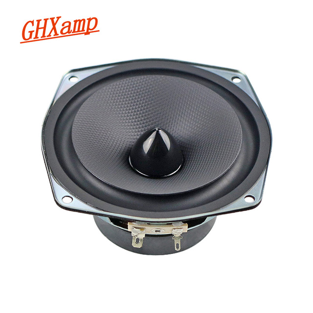 GHXAMP 4.5 INCH 8ohm 30W Midrange Woofer Speaker Bullet Car Loudspeaker Home Theater PC Basin Rubber Speaker 50W DIY