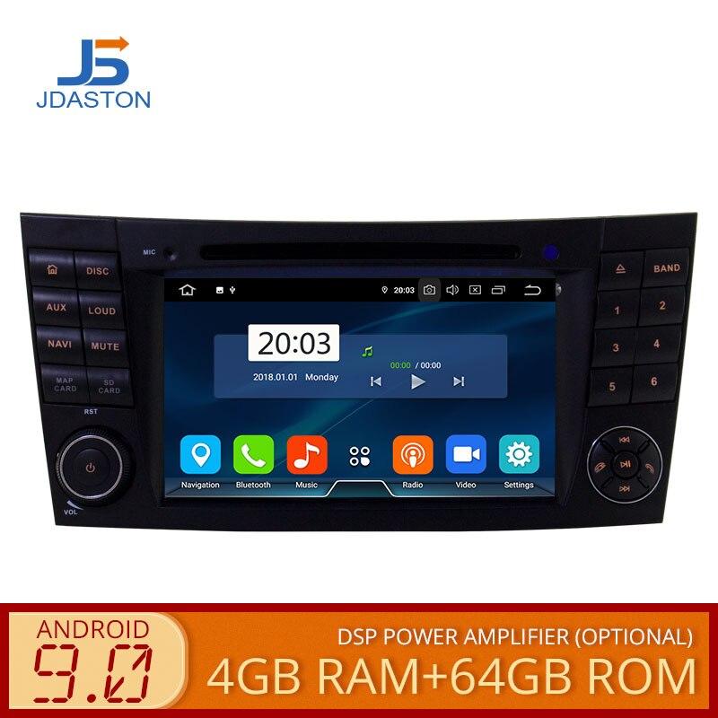 JDASTON 2 DIN 7 pouces Android 9.0 lecteur DVD de voiture pour Mercedes Benz W211 CLK W209 CLS W219 octa noyaux 4G + 64G radio GPS Navigation