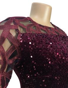 Image 5 - Afrikanische Kleider Für Frauen 2020 Elegent Pailletten Neue Ankunft Mode Stil Afrikanische Frauen Sommer Plus Größe Knie länge Kleid