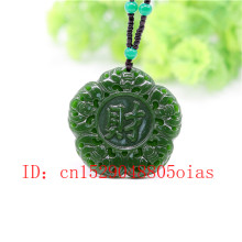 Natural Green Chinese Jade Bat Pendant Necklace Charm Jadeite Jewelry Carved Amulet Fashion Accessories Gifts for Women Men(China)