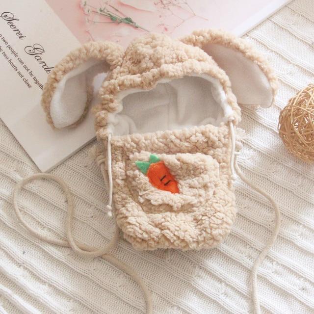 20cm Creative Toast Head Cover Pants Plush Toys Cartoon Rabbit Messenger Bag Stuffed Doll Clothes Accessories Children's Toys